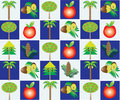 Free Trees Pattern Royalty Free Stock Photos - 19971548