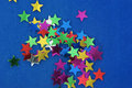 Free Glittering Stars On Blue Background Royalty Free Stock Photography - 19972927
