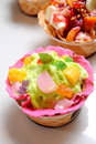 Free Tropical Fruits Ice Cream Royalty Free Stock Photography - 19976847