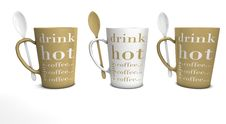 Free 3 Coffee Mugs With Spoons Stock Photo - 19970010