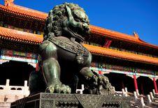 Free Forbidden City Lion Royalty Free Stock Photo - 19970365