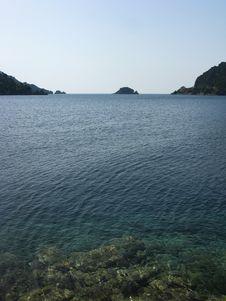 Island In Aegean Sea Landscape Stock Image