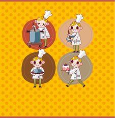 Free Cartoon Chef Card Stock Photo - 19970970