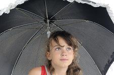 Free Blonde Model Posing With Umbrella Royalty Free Stock Photo - 19971655