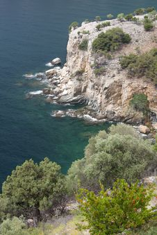 View Of Aegean Sea From St Archangel Monastery Royalty Free Stock Photo