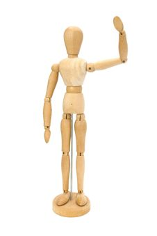 Free Waving Wooden Artists Mannequin Stock Photography - 19971952