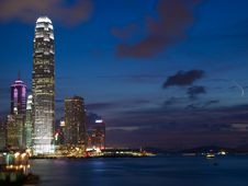 Free Hong Kong At Night Royalty Free Stock Image - 19972446