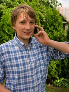 Teenager Talking On The Phone Stock Photos