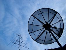 Antenna & Dish Royalty Free Stock Image