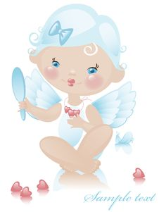 Free Angel With Hearts 3. Royalty Free Stock Images - 19973439