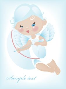 Free Angel With Bow And Arrow 4. Royalty Free Stock Images - 19973459
