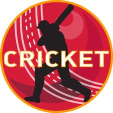 Free Cricket Player Batsman Sports Ball Stock Photography - 19973662