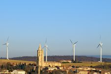Free Wind Turbines Three Royalty Free Stock Photos - 19973788