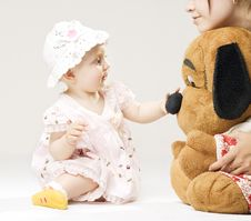 Free Child And Big Toy Royalty Free Stock Photos - 19974078