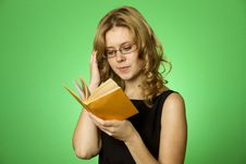 Free Reading Girl Stock Photography - 19974442
