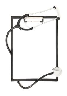 Clipboard And Stethoscope (isolated) Royalty Free Stock Image