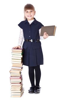 Free Schoolgirl With Books I Royalty Free Stock Photos - 19974668