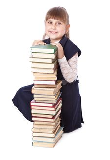 Free Schoolgirl With Books I Royalty Free Stock Photo - 19974675