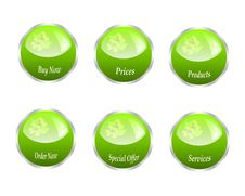 Free Series Of Web Green Buttons Royalty Free Stock Photography - 19974897