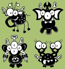 Free Cartoon Monsters, Goblins, Ghosts Stock Photos - 19975753