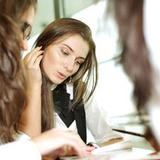 Girl On Examinination Stock Photos