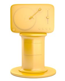 Free Gold Turntable On Pedestal Royalty Free Stock Image - 19977256