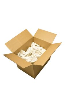 Free Box With Packing Paper Stock Photo - 19977280