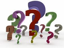 Free Some Shiny Question Mark Royalty Free Stock Photos - 19977798