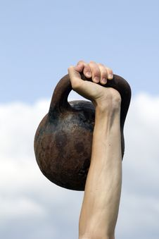 Free Tool  Weight  Hand  Athlete  Sky Royalty Free Stock Photos - 19978208