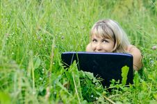 Free Woman With A Laptop Stock Photo - 19978560