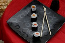 Free Vegetable Sushi Rolls Stock Photo - 19978730