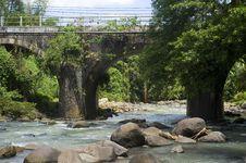 Free Bridge Across  River Stock Photo - 19979240