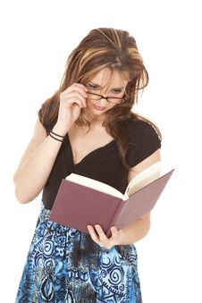Free Woman With Glasses Reading Stock Images - 19979394