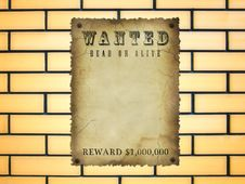 Free Wanted Royalty Free Stock Photo - 19979435