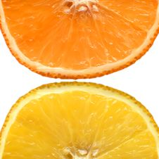 Orange And Grapefruit. Royalty Free Stock Photography