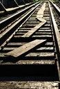 Free Rails And Sunset Stock Image - 19980441