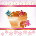 Free Basket With Easter Eggs Stock Image - 19982071