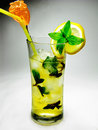 Free Alcohol Liqueur Cocktail With Mint Stock Photos - 19985343