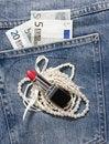 Free Jeans Pocket Money Stock Photos - 19987253