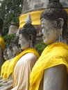 Free Row Of Sitting Buddha Statue Royalty Free Stock Photography - 19987977