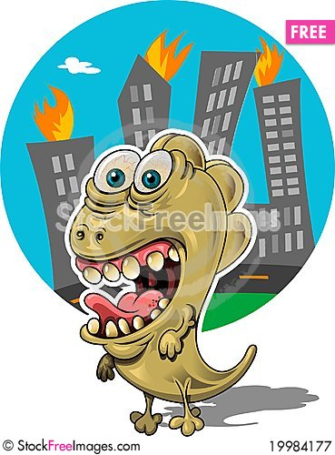 Free Rampaging Creature Royalty Free Stock Photography - 19984177