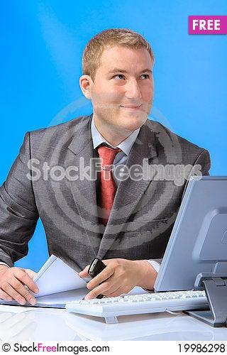 Free Business Man Royalty Free Stock Photos - 19986298