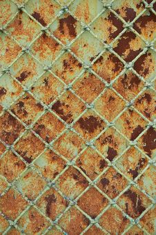 Old Rusty Metal Grill Fence Royalty Free Stock Images