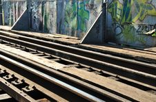 Free Rails And Graffiti Stock Photography - 19980392