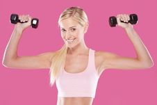 Beautiful Blonde Fitness Model Royalty Free Stock Photo