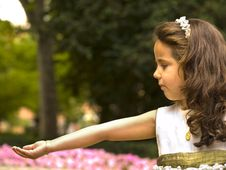 Free Beautiful Girl In Her First Communion Royalty Free Stock Photo - 19981715