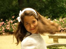 Free Beautiful Girl In Her First Communion Royalty Free Stock Photo - 19981735