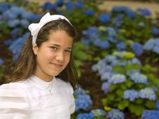 Free Beautiful Girl In Her First Communion Royalty Free Stock Photos - 19981738