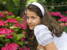 Free Beautiful Girl In Her First Communion Stock Photos - 19981743