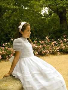 Free Beautiful Girl In Her First Communion Royalty Free Stock Image - 19981746